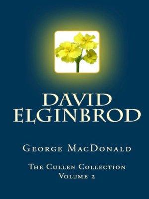 cover image of David Elginbrod