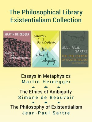 essays in existentialism jean paul sartre pdf One of the characteristic features of sartre's philosophical writing, especially in   associated theories that i offer in my book, the existentialism of jean-paul sartre   hipparchia's choice: an essay concerning women, philosophy, etc.