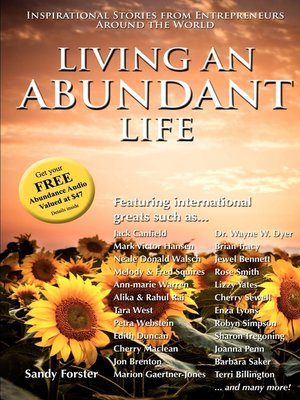 cover image of Living an Abundant Life
