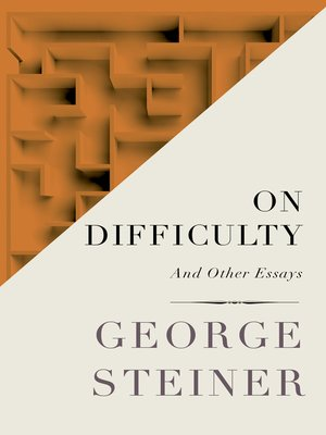 cover image of On Difficulty
