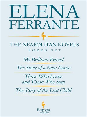 cover image of The Neapolitan Novels Boxed Set