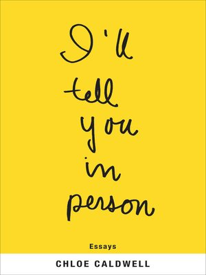 cover image of I'll Tell You in Person