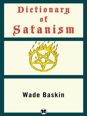 cover image of Dictionary of Satanism