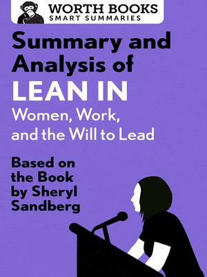 cover image of Summary and Analysis of Lean In - Women, Work, and the Will to Lead