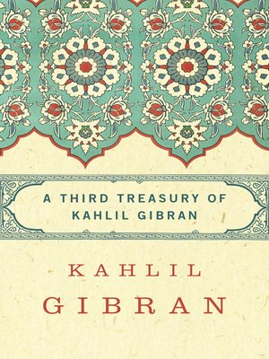 cover image of Third Treasury of Kahlil Gibran