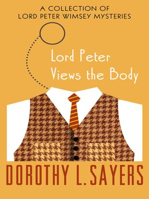 cover image of Lord Peter Views the Body