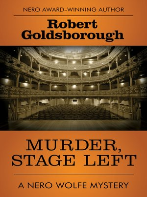 cover image of Murder, Stage Left