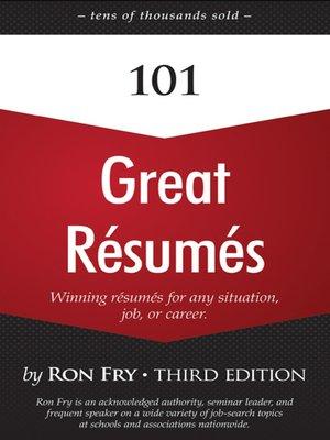 cover image of 101 Great Résumés