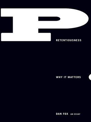 cover image of Pretentiousness