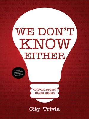 cover image of We Don't Know Either