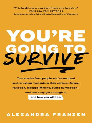 cover image of You're Going to Survive