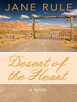 cover image of Desert of the Heart