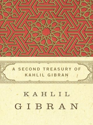 cover image of Second Treasury of Kahlil Gibran