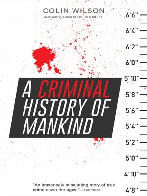 cover image of A Criminal History of Mankind