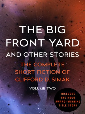 cover image of The Big Front Yard and Other Stories