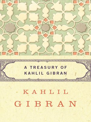 cover image of Treasury of Kahlil Gibran