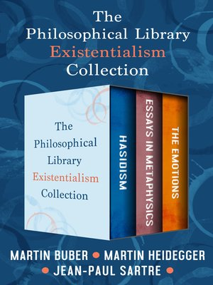 cover image of The Philosophical Library Existentialism Collection