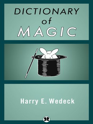 cover image of Dictionary of Magic