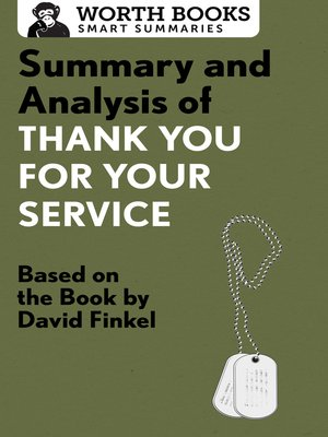 cover image of Summary and Analysis of Thank You for Your Service