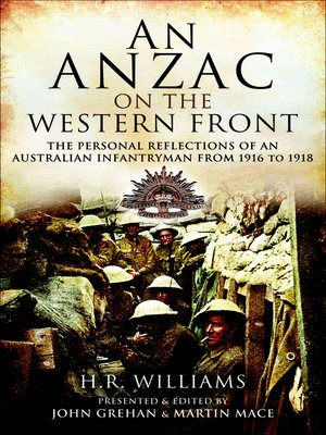 cover image of An Anzac on the Western Front