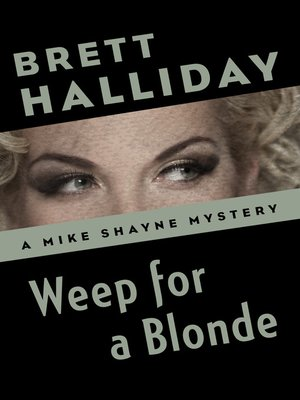 cover image of Weep for a Blonde