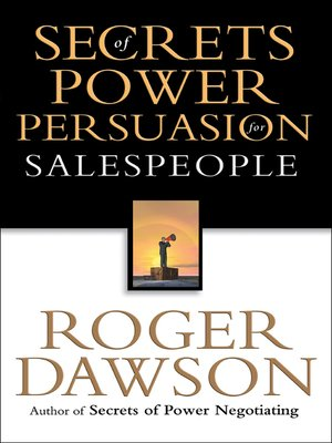 cover image of Secrets of Power Persuasion for Salespeople