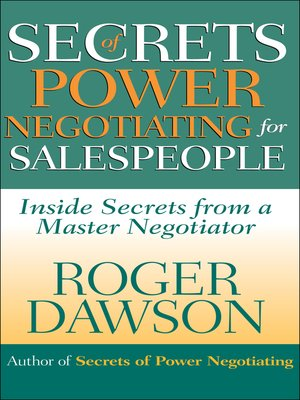 cover image of Secrets of Power Negotiating for Salespeople