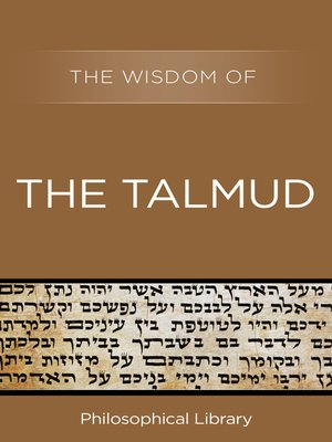 cover image of The Wisdom of the Talmud