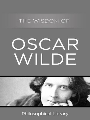 cover image of The Wisdom of Oscar Wilde