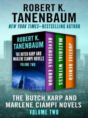 cover image of The Butch Karp and Marlene Ciampi Novels Volume Two