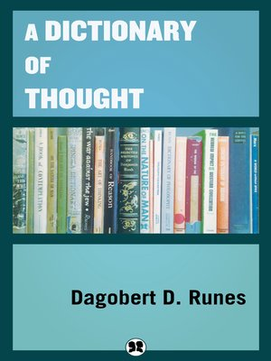cover image of A Dictionary of Thought