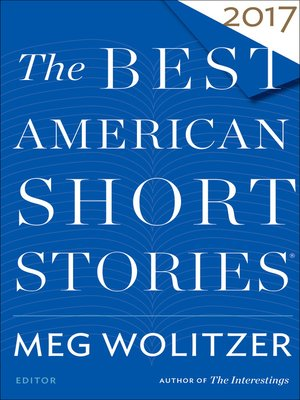 cover image of The Best American Short Stories 2017