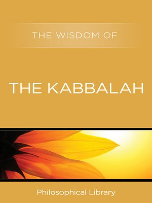 cover image of The Wisdom of the Kabbalah