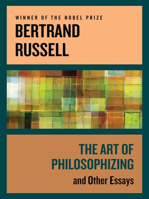 cover image of The Art of Philosophizing