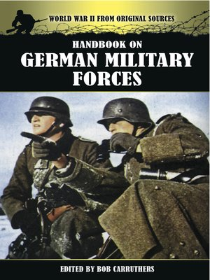 cover image of Handbook on German Military Forces
