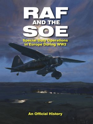 cover image of RAF and the SOE