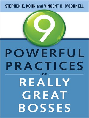 cover image of 9 Powerful Practices of Really Great Bosses