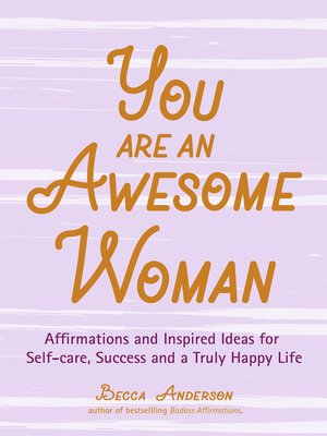 cover image of You Are an Awesome Woman