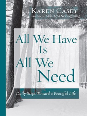 cover image of All We Have Is All We Need