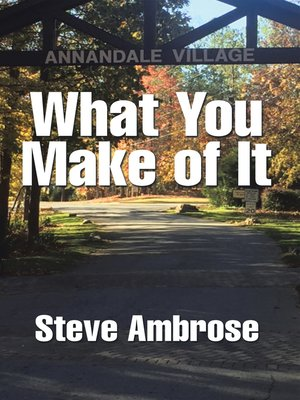 cover image of What You Make of It