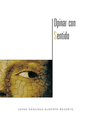 cover image of OPINAR CON SENTIDO