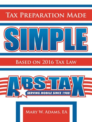 cover image of Tax Preparation Made Simple