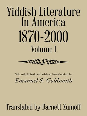 cover image of Yiddish Literature in America 1870-2000