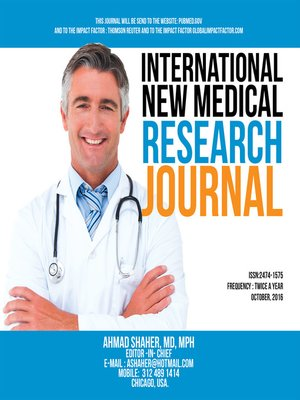 cover image of International New Medical Research Journal