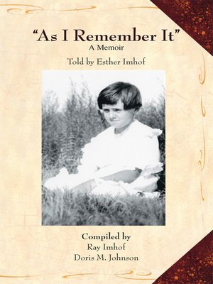"cover image of ""As I Remember It"""
