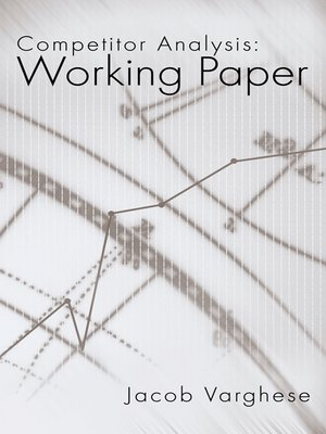cover image of Competitor Analysis:Working Paper