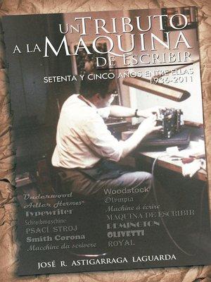 cover image of Un Tributo a La Mquina  De Escribir