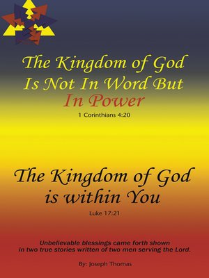 cover image of The Kingdom of God Is Not in Word, but in Powerthe Kingdom of God Is Within You