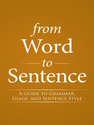 cover image of From Word to Sentence
