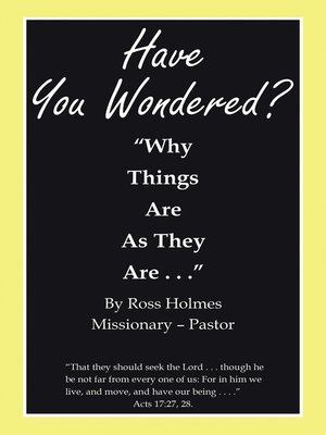 "cover image of ""Have You Wondered?"""